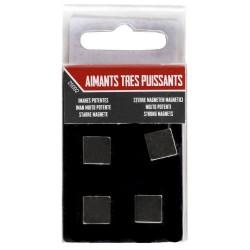 Lot 4 Magnets carrés Strong