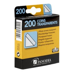 Boîte de 200 coins photos adhésifs transparents