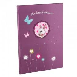 Livre de naissance Foxy violet A4