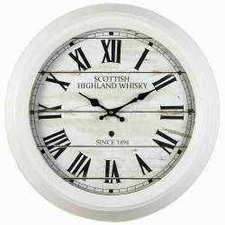 Horloge Scottish blanc 47 cm