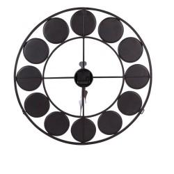 Horloge Loft noir 60 cm