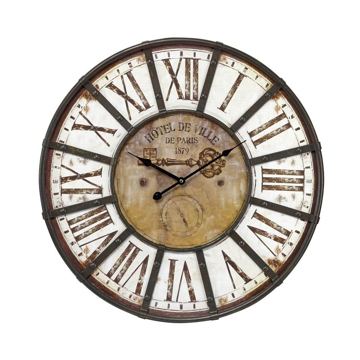Horloge Charme Industriel 60 cm