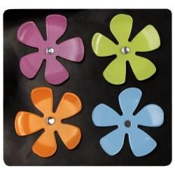 Lot de 4 magnets fleurs