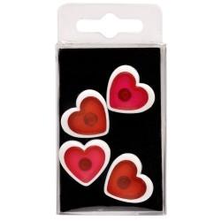 Lot 4 Magnets Cœurs