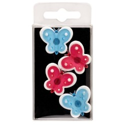 Lot 4 Magnets Papillons