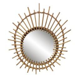 Miroir rond Rotin 55x41 cm