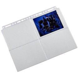 M115 10 feuillets de classement photos 10x15 cm fond transparent