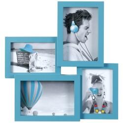 Cadre photo multivues Pep's bleu 4 photos
