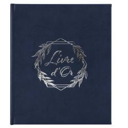 Livre d'argent Roma bleu marine 80 pages