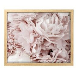 Image encadrée Fleurs 30x40 cm baguette en bois FSC