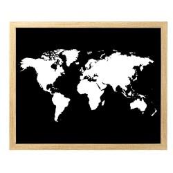 Image encadrée Carte 40x50 cm baguette en bois FSC