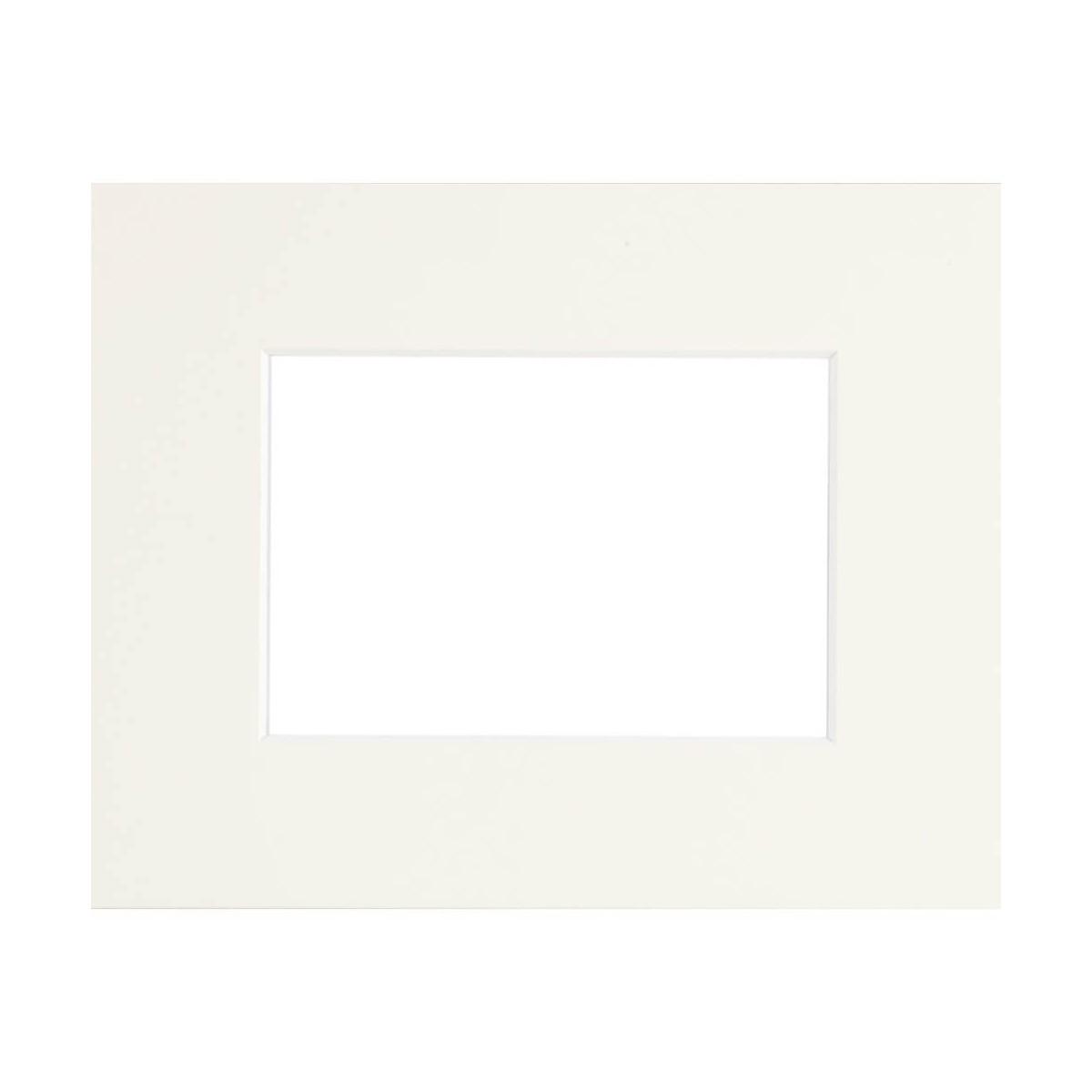 Passe-partout Epais blanc cassé 18x24 cm ouverture 13x18 cm