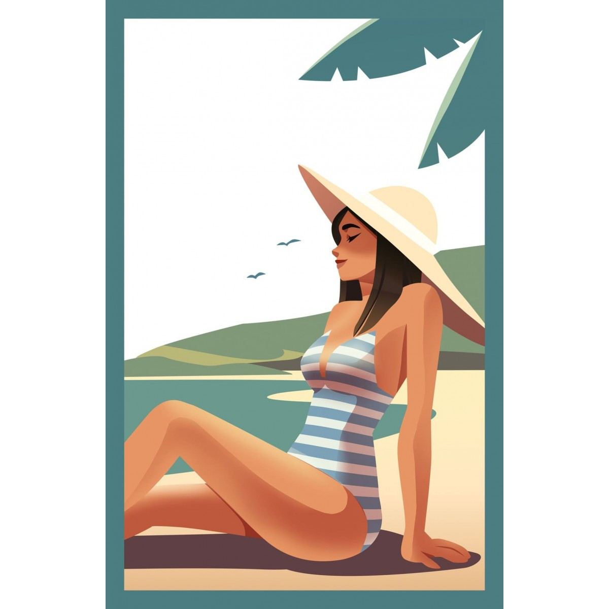 Tableau sur verre ultra résistant summer 42x63 cm