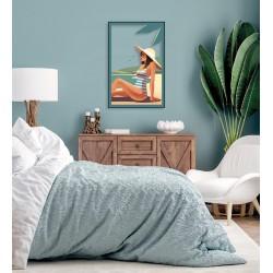 Tableau sur verre ultra résistant summer 42x63 cm ambiance