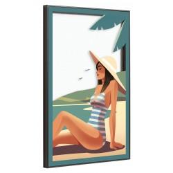 Tableau sur verre ultra résistant summer 42x63 cm biais