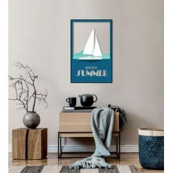 Tableau sur verre ultra résistant blue summer 42x63 cm ambiance