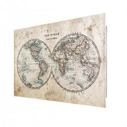 Tableau sur verre synthétique hémisphère mondial biais