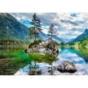 Tableau sur toile îlot sur rivière 100x140 cm
