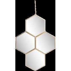 Miroir hexagones en métal 30x45 cm